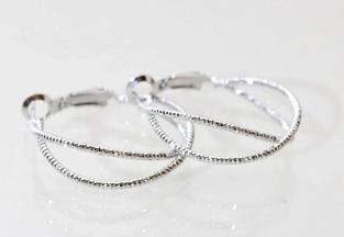 Minty Hoops In Silver