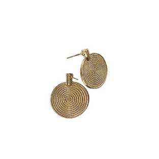 Hot Tomato Gold Disk Earrings