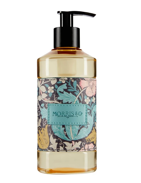 Soap dispenser with floral pattern