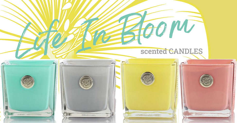 4 Life in Bloom candles