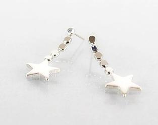 Kitty earrings in Silver