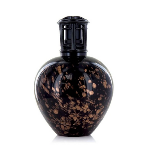 Black and copper bottle with black lid