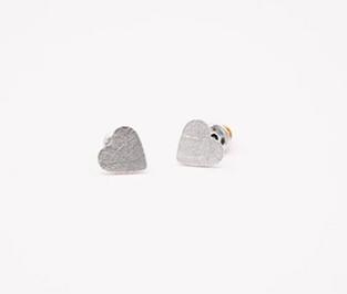 Lianna Heart Earrings in Silver