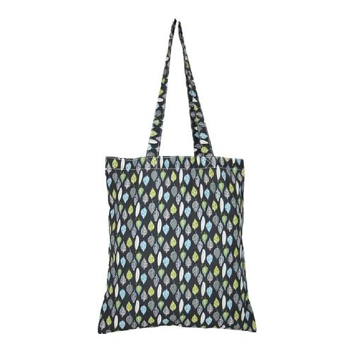Cotton shopper bag with leaf design