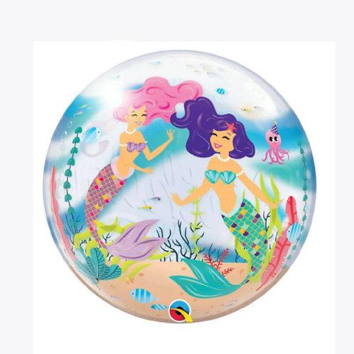 Mermaids under the sea on a balloon