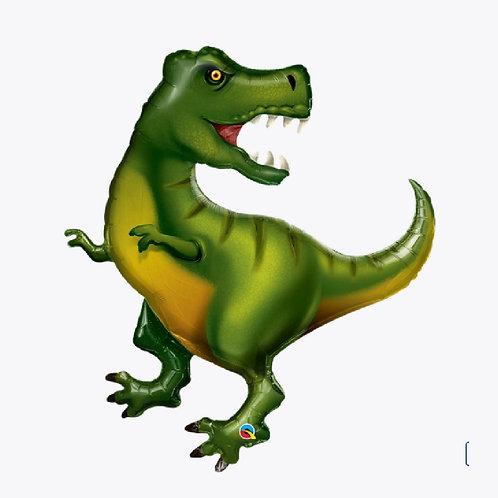 Large green dinosaur balloon