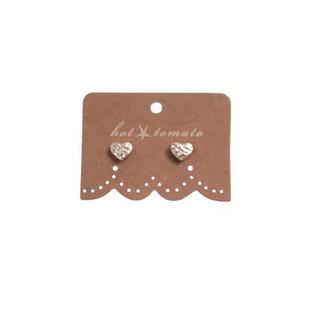 Hot Tomato Silver Heart Earrings