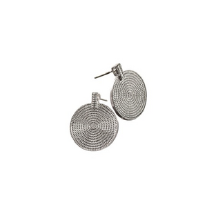 Hot Tomato Silver Disk Earrings