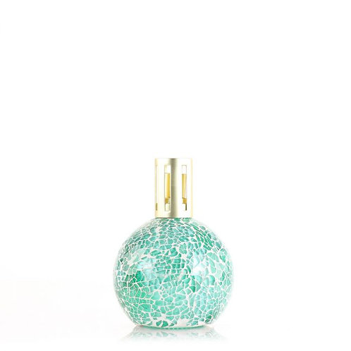 green mosaic fragrance lamp with gold lid