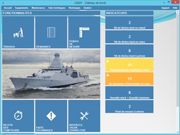 CINDY est un outil de GMAO pour la gestion de parc avec option de suivi de navigabilité dédiée au secteur naval