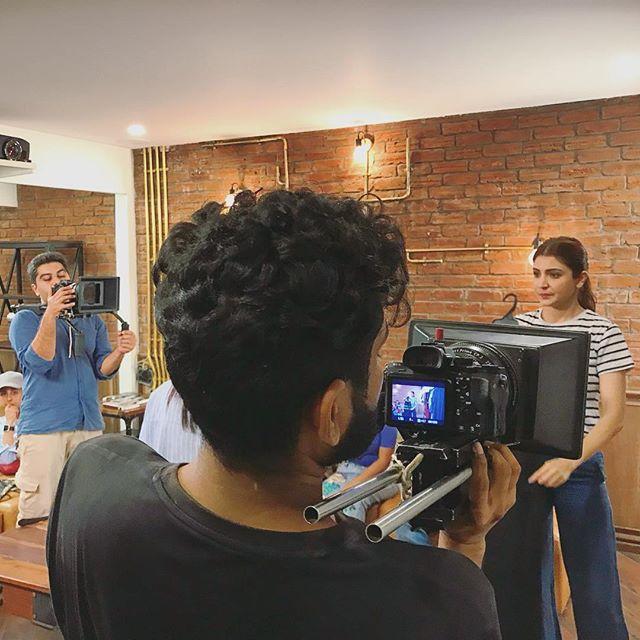 Shooting with Anushka Sharma was an absolute pleasure 😊😊_#nush #shoot #anushkasharma #brandfilm #t