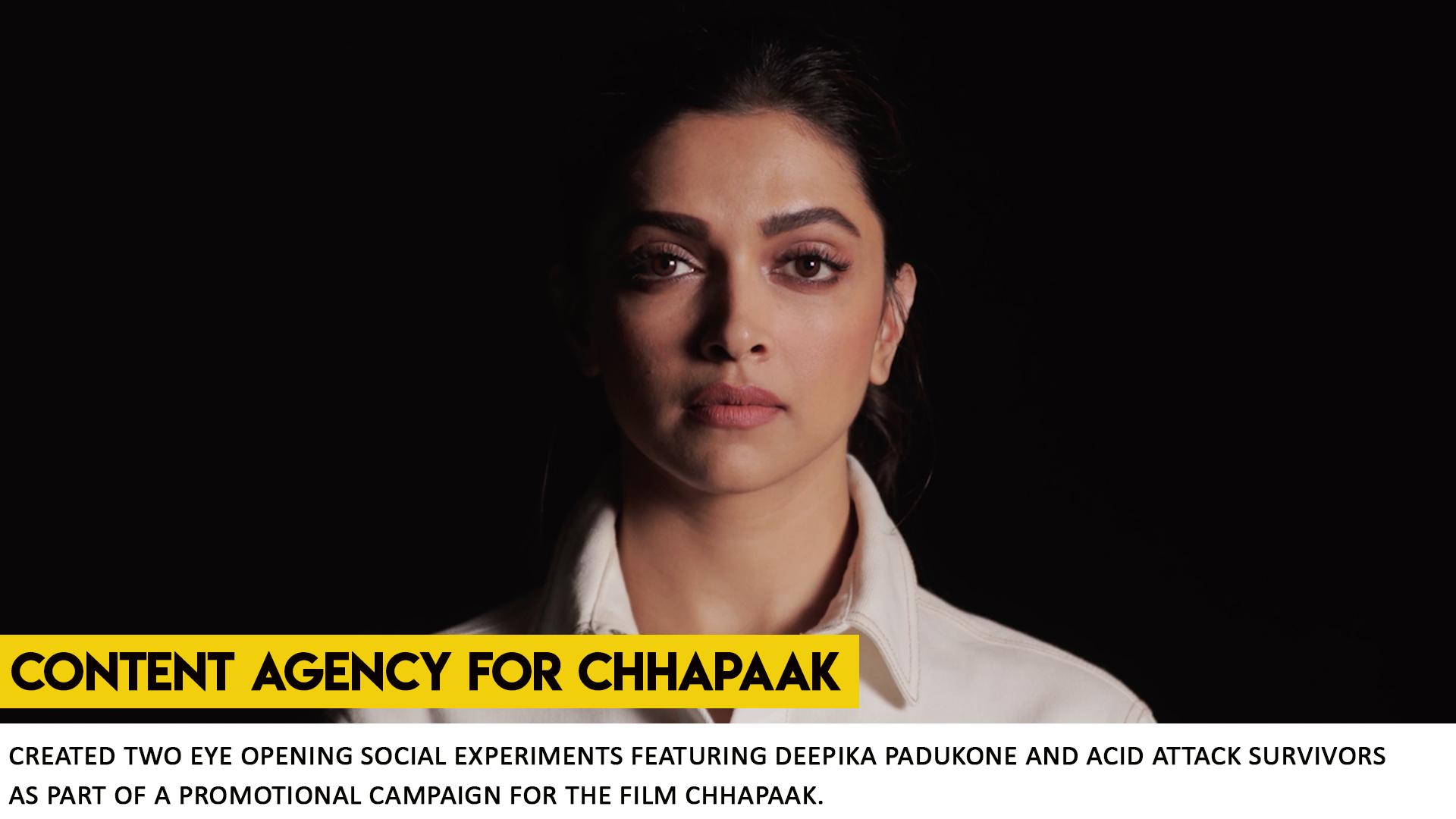 Chhapaak Social Experiment slider