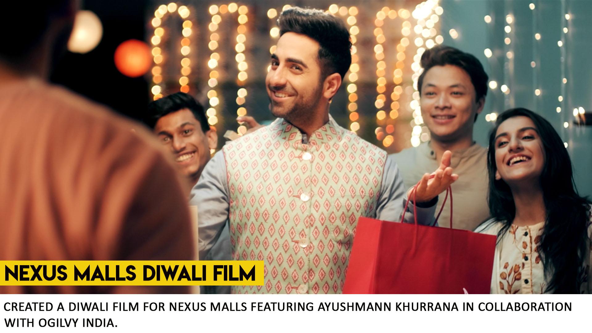 Nexus Malls Diwali ad with Ayushmann
