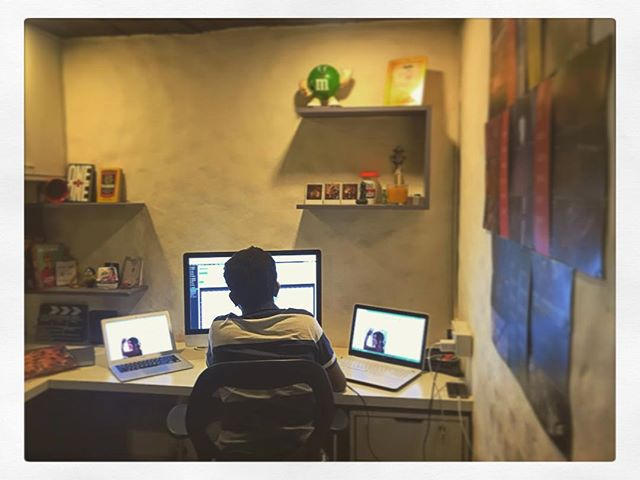 Multiple screens, one intent - Make good shit! _#whatworks #worklife #screens #computer #monitor #co