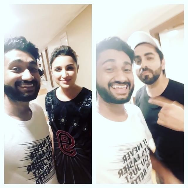 Suraj (_freewiill) has a fanboy moment on the sets of our promotional campaign for _meripyaaribindu