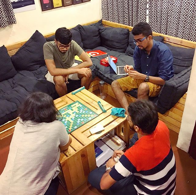 Don't babble, just scrabble! One of the quietest moments in office