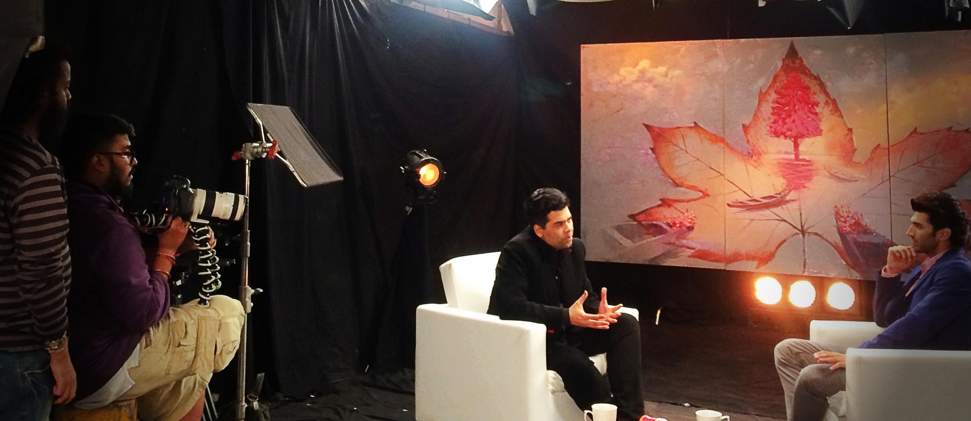 The great director & Karan Johar :p