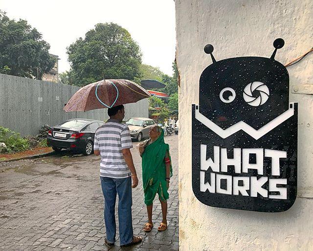 Washed out kinda day! _#office #whatworks #mascot #logo #rains #washedout #rainyday #logodesign #wor