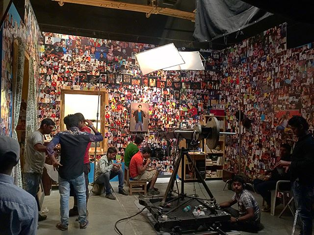 Blast from the past! Our set for the campaign we did for Fan! _#fan #set #filmset #videoproduction #