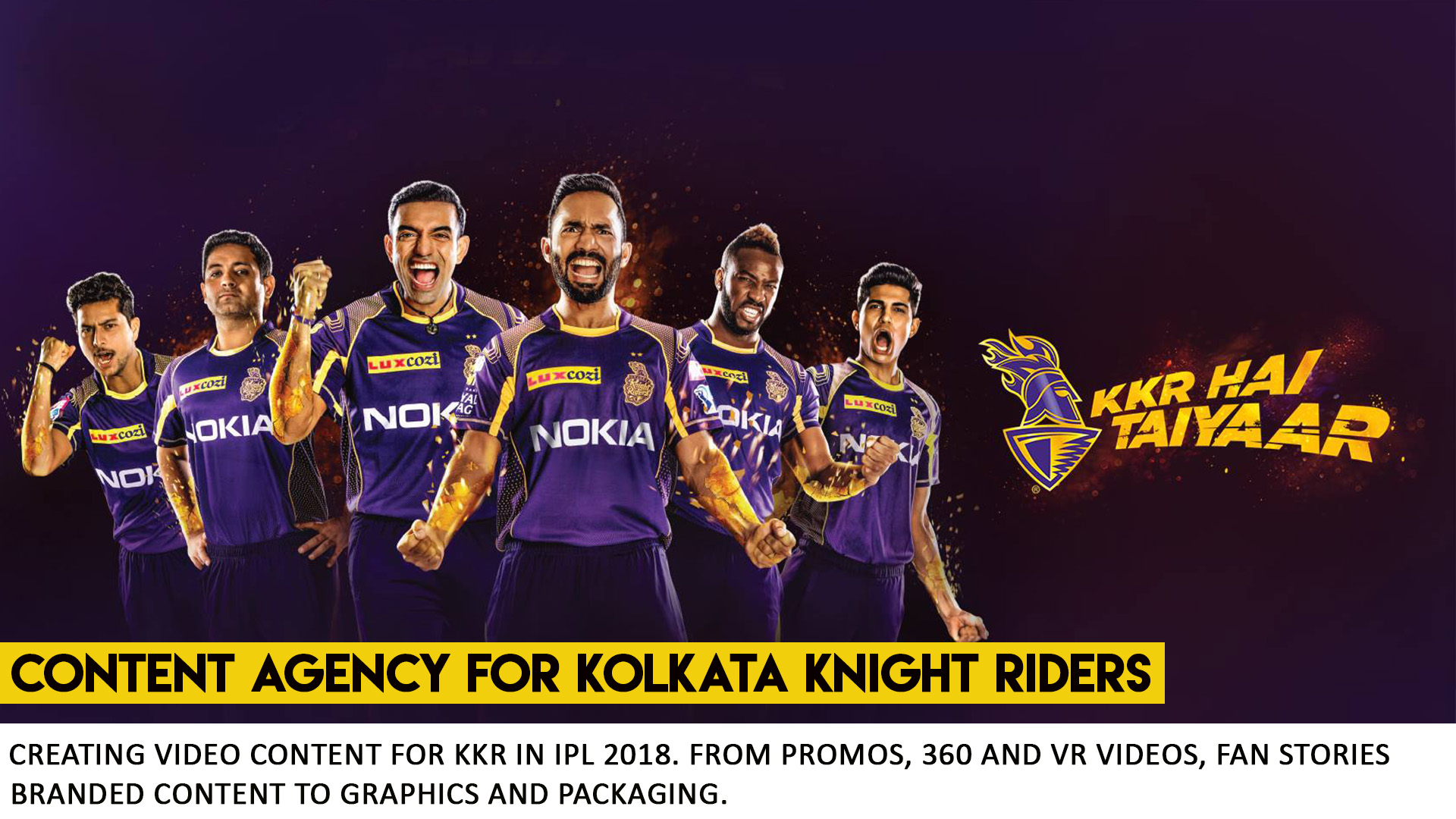 Kolkata Knight Riders - Content Agency What Works