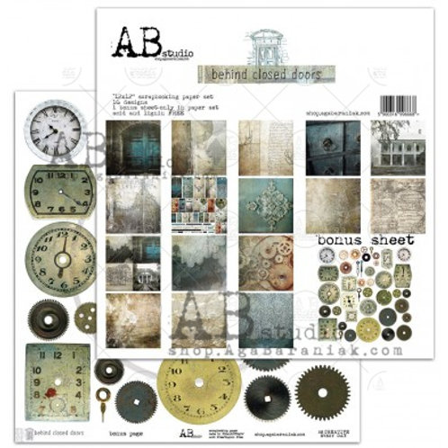 AB Studio - Behind Closed Doors - 12x12 Paper Pack