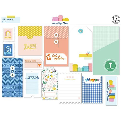 PinkFresh Studio - Lets Stay Home- Journaling Bits