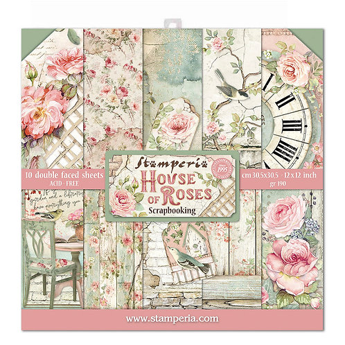 Stamperia - House of Roses - 12x12 Collection pack