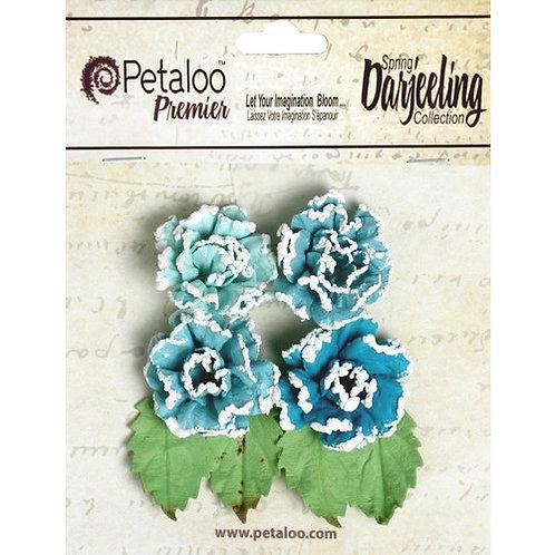 Petaloo Frosted Roses - Spring Darjeeling - Blue Green