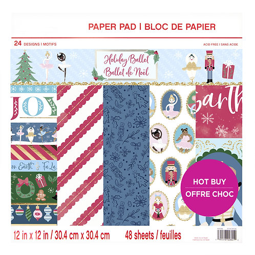 Craft Smith - Holiday Ballet - 12 x 12 Paper Pad