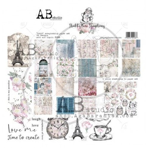 AB Studio - Shabby Love Symphony - 12x12 Collection Pack