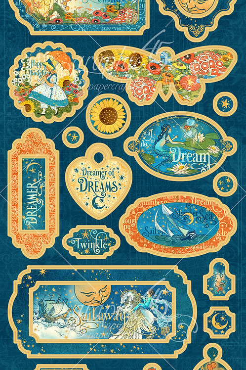 Graphic 45 - Dreamland - Chipboard