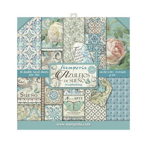 Stamperia  - Azulejos - 8 x 8 Paper Pad