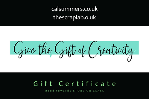 Gift Certificate - from £5.00
