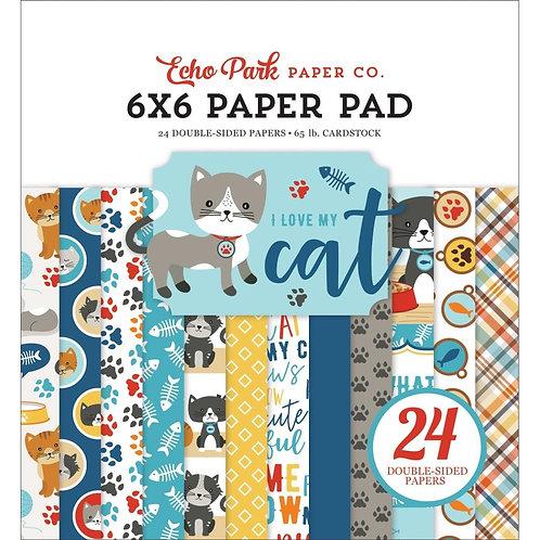Echo Park - I Love My Cat 6x6 paper pad