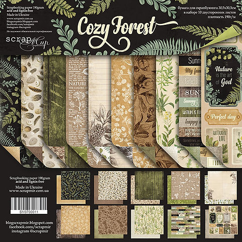 Cozy Forest Scrapbooking Kit, Envelope and Die Cut Pack