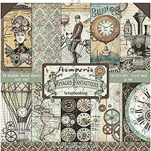Stamperia Voyages Fantastique 12x12 collection pack