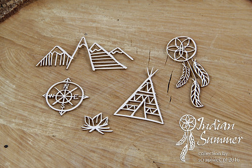 Scrapiniec - Indian Summer - Tipi - Chipboard
