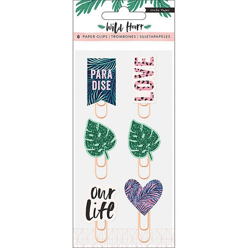 Wild at Heart Paper Clips