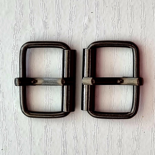 Book Hardware - Metal Buckles 1 inch - Pair - Gunmetal