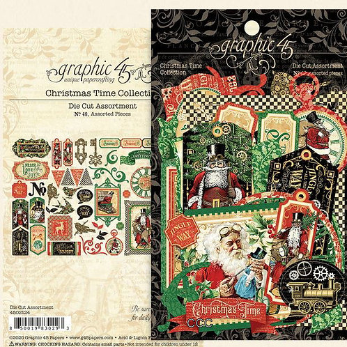 Graphic 45 Christmas Time Die Cut Assortment
