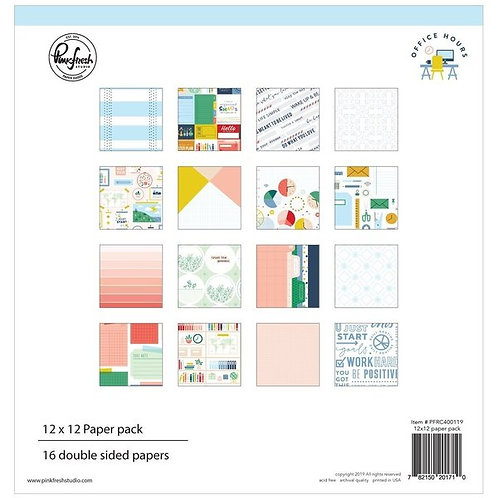 PinkFresh Studio Office Hours 12x12 Collection Pack