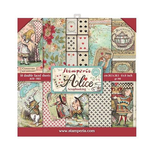 Stamperia - Alice - 8x8 Paper Pad