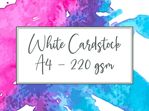 Cal Summers - A4 White Cardstock - 10/20/50/100 sheets