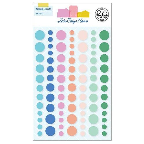 PinkFresh Studio- Lets Stay Home  - Enamel Dots