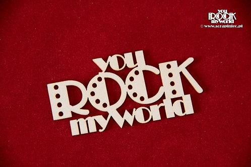 Scrapiniec - You Rock My World chipboard
