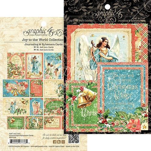 Graphic 45 - Joy to the World - Ephemera Cards