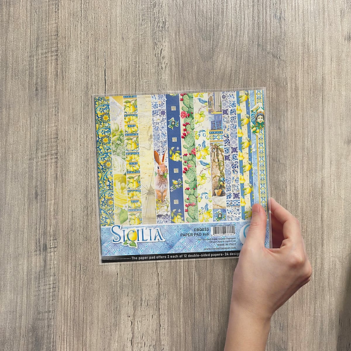 Ciao Bella - Sicilia - 6x6 paper pad