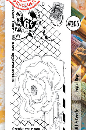 Aall &Create Stamp #205 - Postal Rose by Tracy Evans