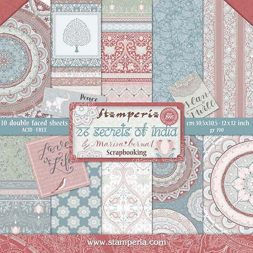Stamperia Secrets of India 12x12 Collection Pack