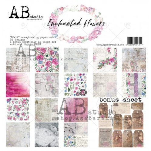 AB Studio - Enchanted Flowers - 12x12 Paper Pack